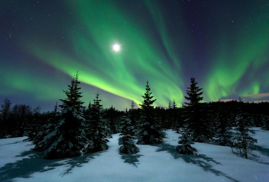картинки северного сияния зимой сравнить эти