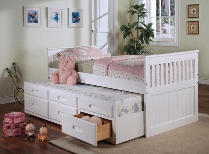детская мебель с выдвижной кроватью