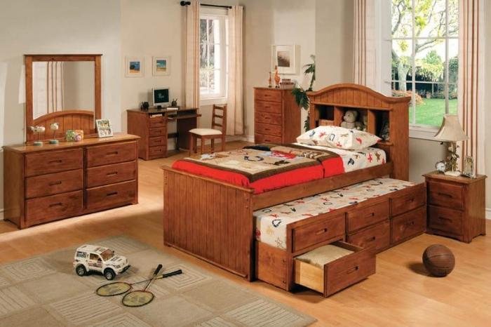 кровати детские выдвижные