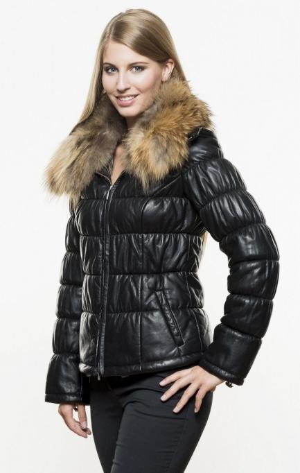 Кожаный пуховик с мехом женский верный выбор для зимы - Выбираем кожаный пуховик