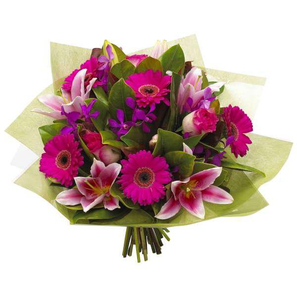 как упаковать цветы гофрированной бумагой