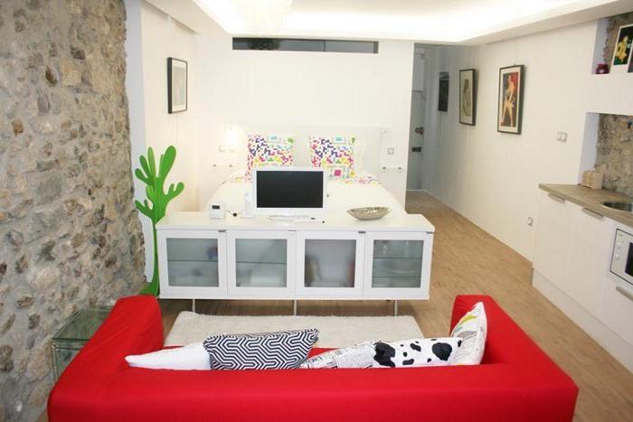 интерьер 1 комнатной квартиры студии