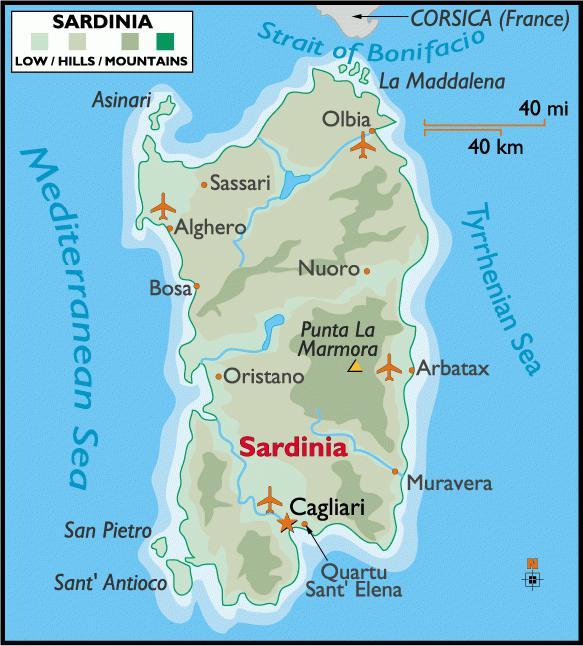 остров в италии сардиния