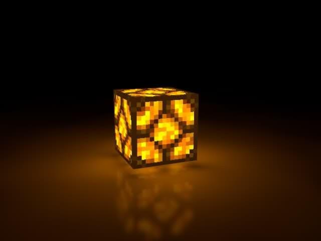 Лампа в Minecraft