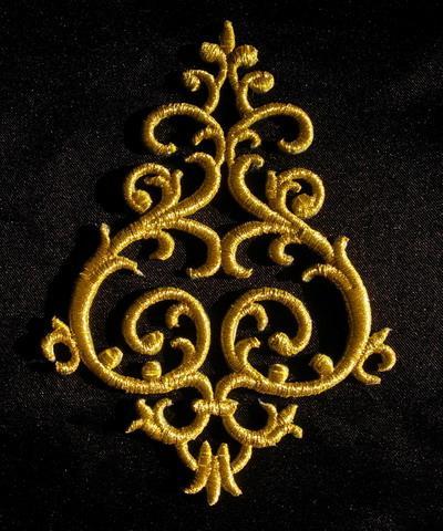 Рисунок для вышивки золотом