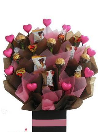 Букет из конфет своими руками: пошагово с фото 22