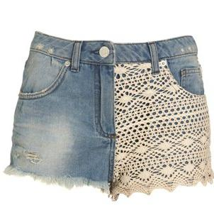 джинсовые шорты с кружевом своими руками