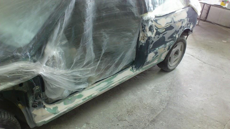 покраска порогов автомобиля