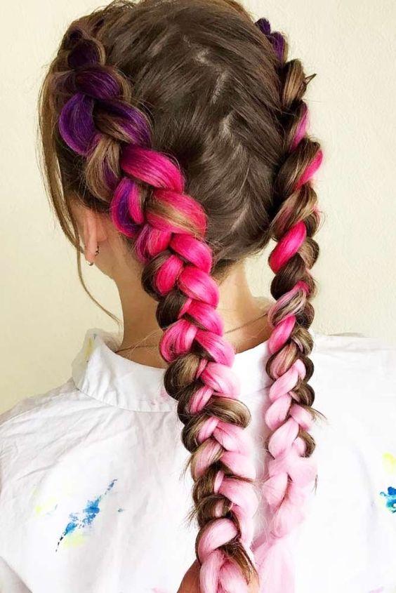Необычная коса: идеи и пошаговая инструкция, косы с канекалоном