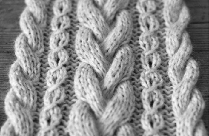 Вязание декоративной косы