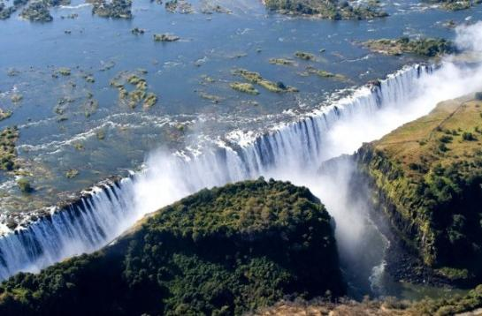 Самый большой водопад реки в африке