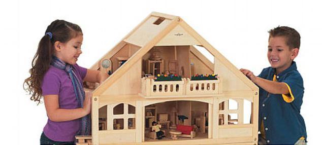 макет дома из бумаги схема