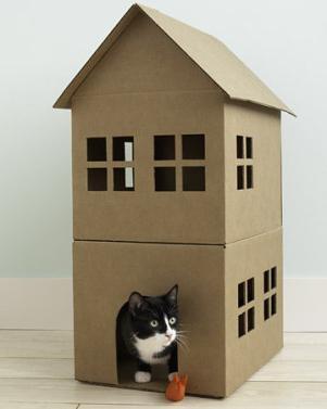 макет дома из картона