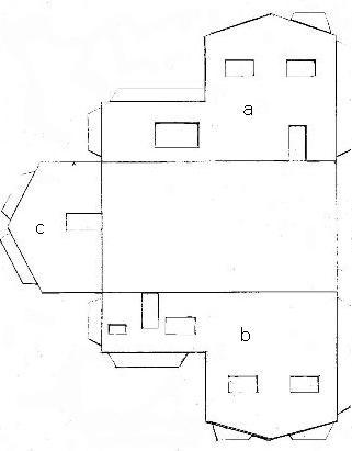 Как дома сделать макет дома из бумаги своими руками схемы