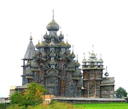 Архитектура старой Руси в музее Кижи