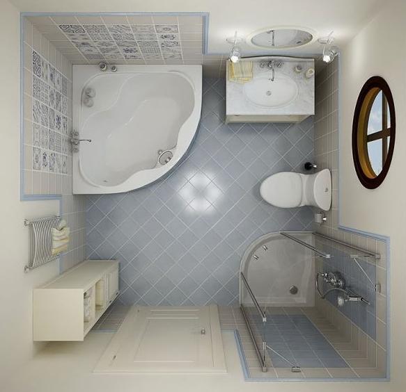 Маленькая ванная комната простые