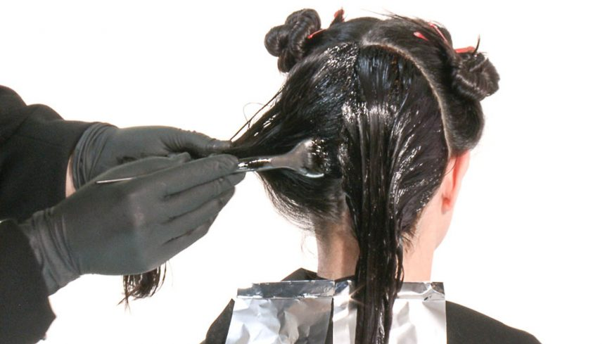 схема окрашивания волос в один тон