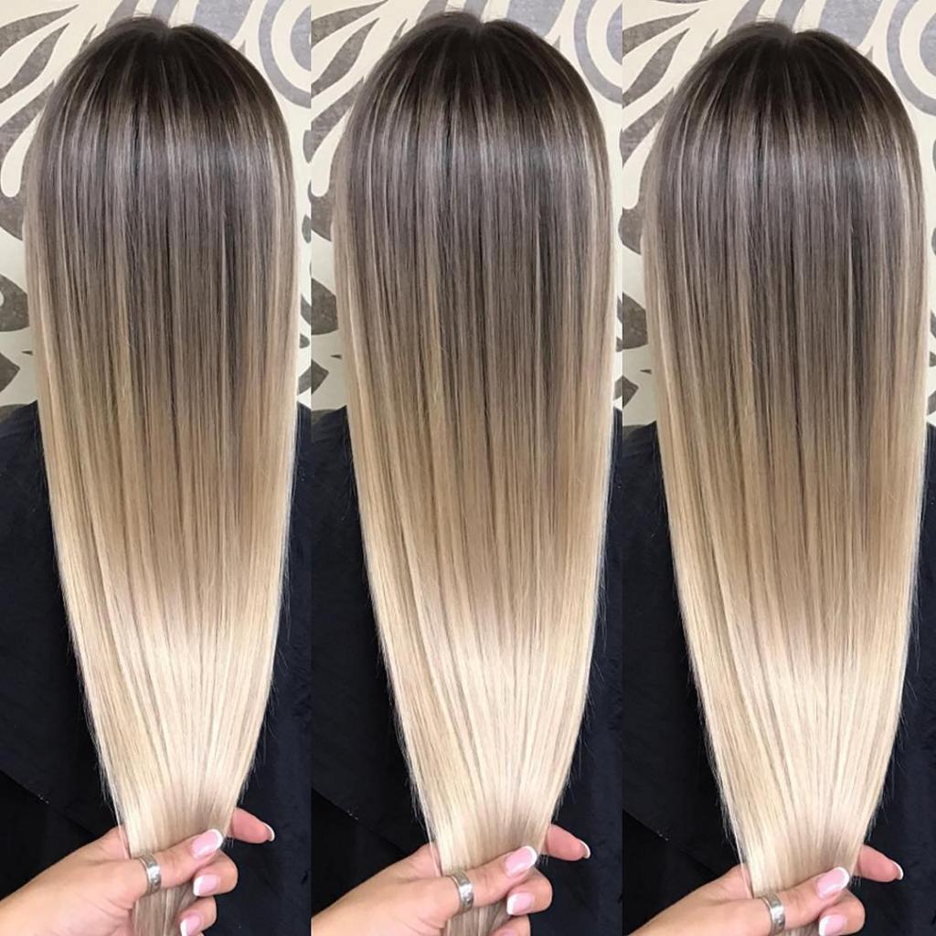 волос окрашивание схема омбре