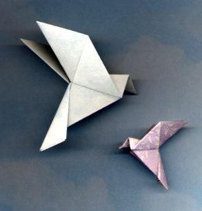 Как из бумаги сделать голубя - символ мира