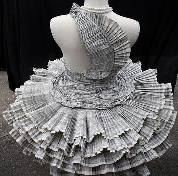 Платья из бумаги своими руками как делать 923