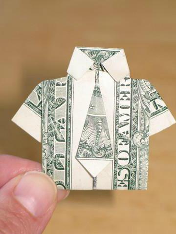 How to Origami a shirt with a dollar bill  WonderHowTo
