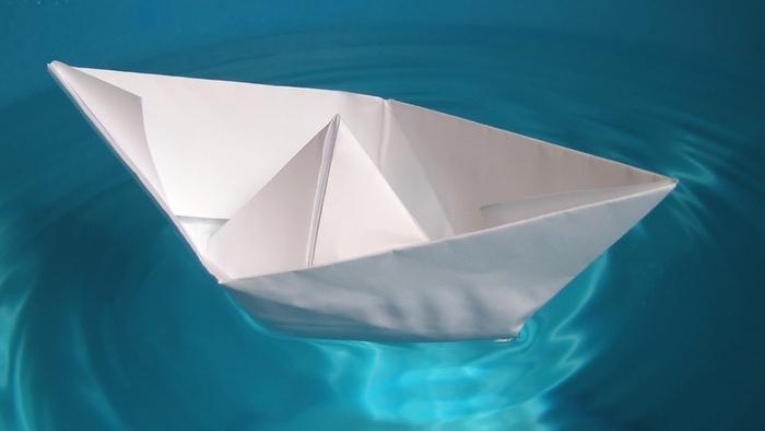 как из бумаги сделать лодку