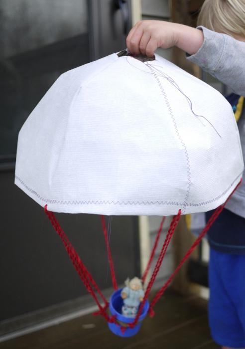 Как сделать из ткани парашют для