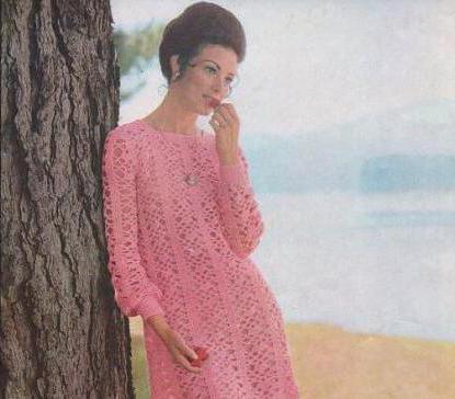 Платья тёплые крючком со схемами