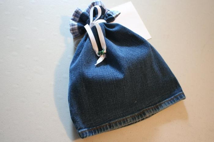 Мешок из старых джинсов своими руками