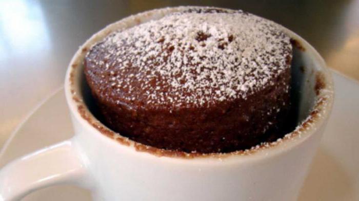Кекс в микроволновке с какао