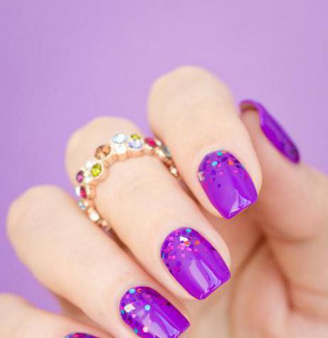 Ногти розово фиолетовые