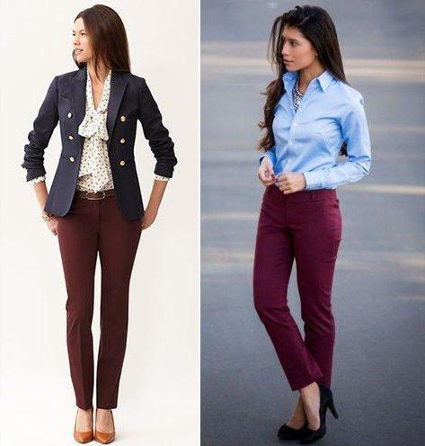 Бордовые брюки