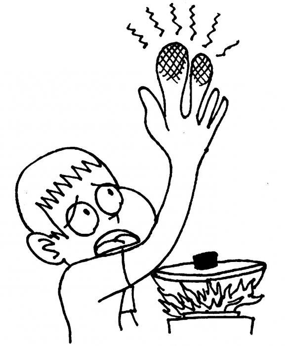 Что делать когда ошпарил палец