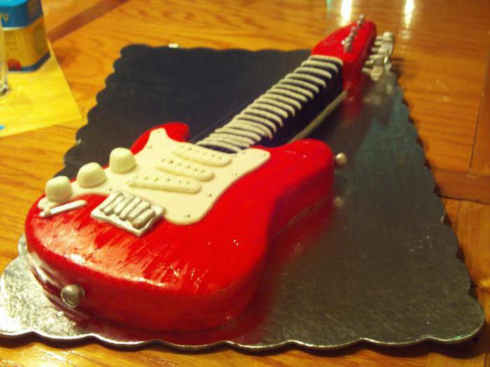 торт гитара из мастики