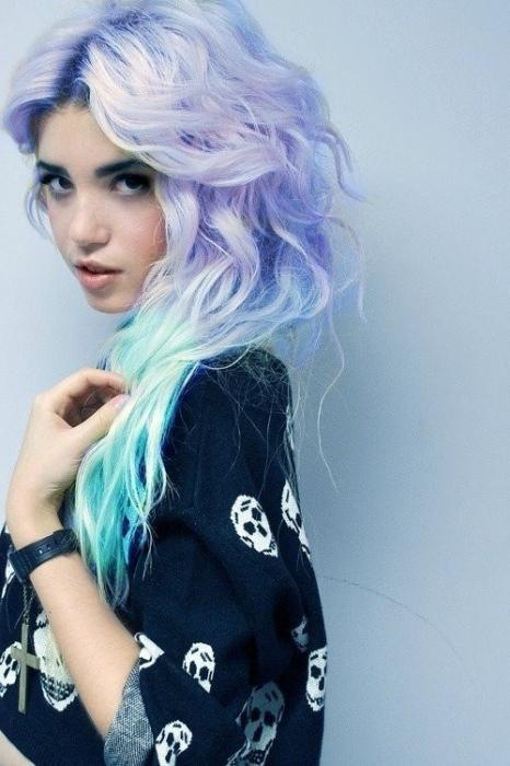 Разноцветные волосы картинки - 7518e
