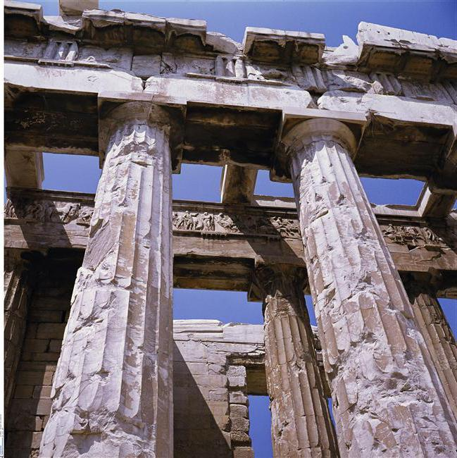 Flute - it is a feature of ancient architecture