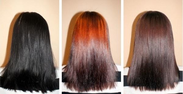 как выводят черный цвет волос кефиром