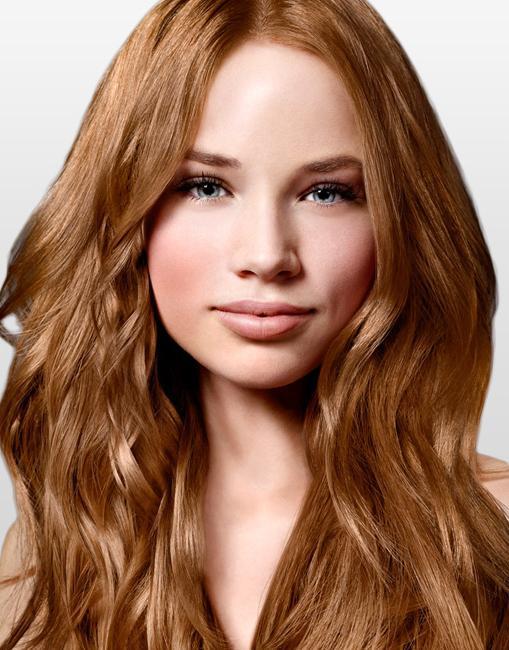 Золотистый цвет волос хной