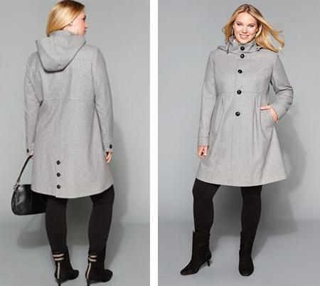 Пальто для полных женщин
