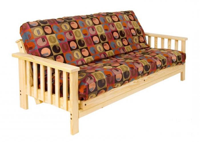 диван книжка с деревянными подлокотниками