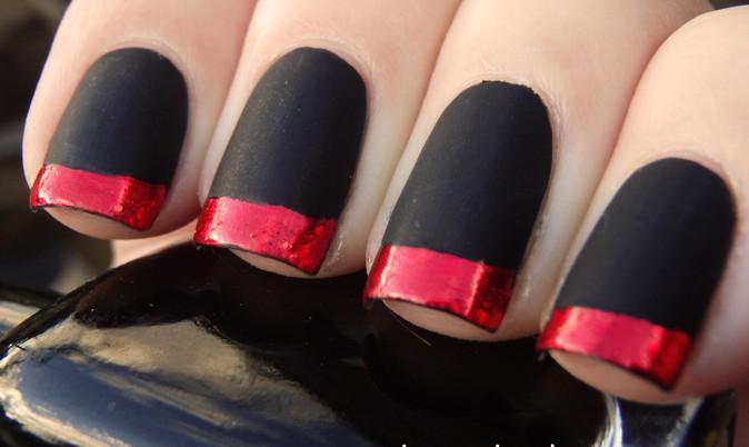 Red and black matt french