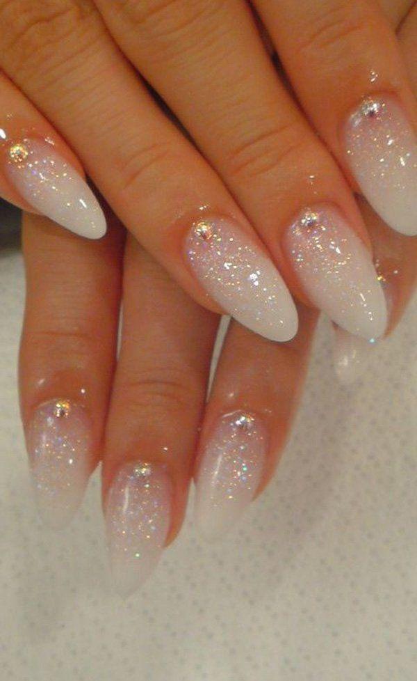 cream wedding manicure