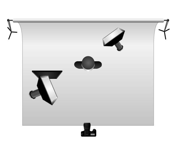 Примеры схем студийного света