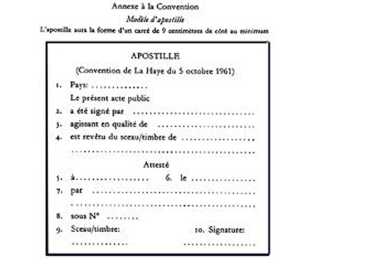 Французский апостиль