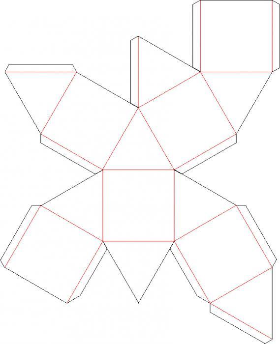 кубооктаэдр развертка
