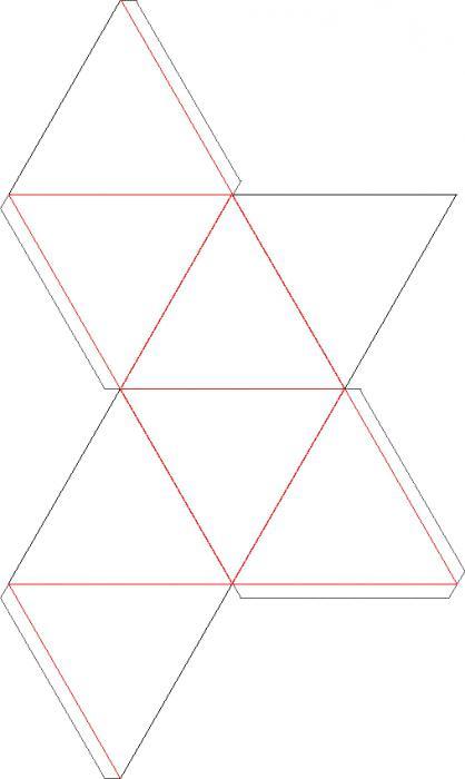 как собрать бумажный октаэдр