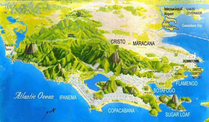 рио де жанейро карта