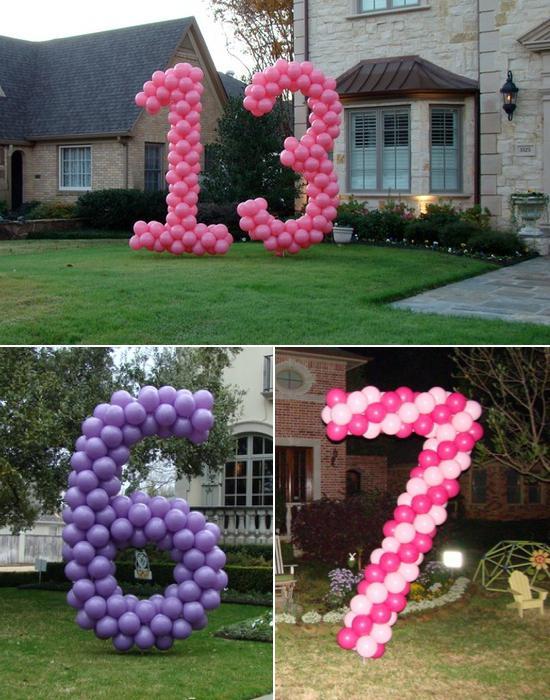 как сделать цифру из шаров