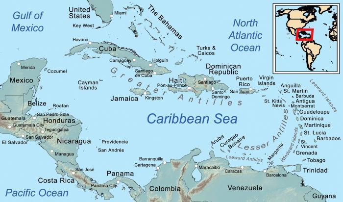 карибский бассейн страны и столицы