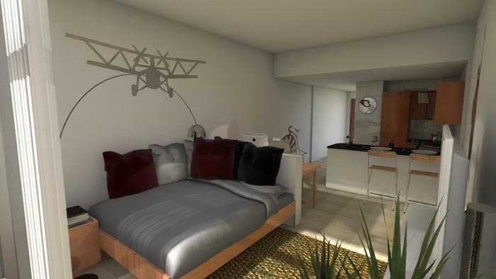 расстановка мебели в однокомнатной квартире хрущевке